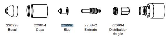 Bico Corte Plasma 105A Hypertherm Powermax 105 – 220990-2